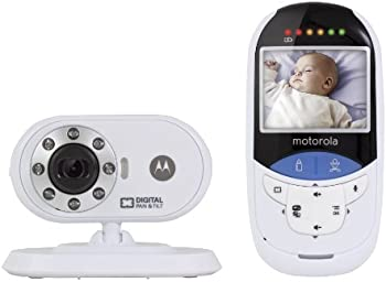 Motorola MBP27T Digital Baby Monitor w/ Touchless Thermometer