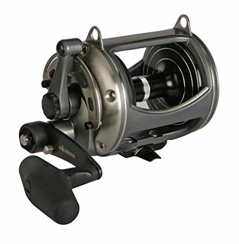 (Okuma Fishing Tackle Solterra SLX-50WII Two Speed Closed Wide Frame Lever Drag Reel)