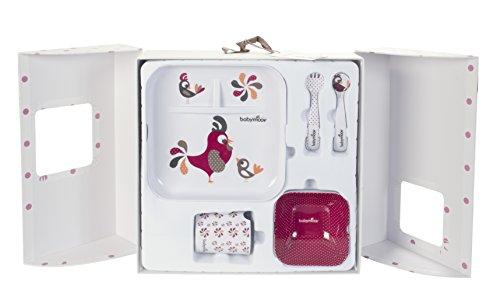 Babymoov Lunch Set - Rooster Family 5pc Kids Melamine Dinnerware Gift Set