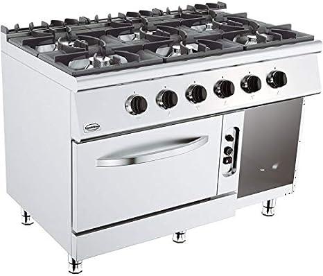 Combisteel - Hornillo para horno de 4 o 6 fuegos vivos ...