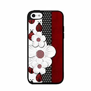 Lady Bug and Daisy - Phone Case Back Cover (iPhone 5c- Silicone)