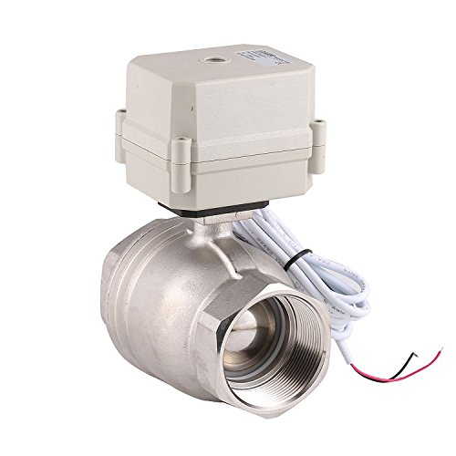 "HOMPAT NPT 2"" Stainless Steel 304 Motorized Ball Valve 12V Electric Ball Valve Two Way (CR2-01) (12 V) ()"