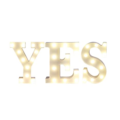 A Mystery/&Melody LED letra decorativa l/ámpara luz LED alfabeto blanco s/ólido letras para fiesta boda decoraci/ón luz