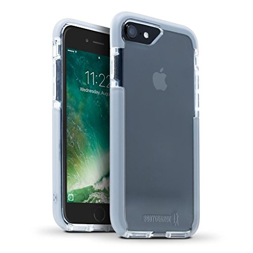 BodyGuardz - Ace Pro Case Compatible with Apple iPhone 7 and iPhone 8 (Not Plus) Featuring Unequal Technology, Extreme Impact and Scratch Protection for Apple iPhone 7/8 (Not Plus) (Clear/Grey)