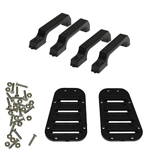 RCAIDONG RC Car Intake Grille Cover and Plastic Door Handle for 1:10 RC Crawler Traxxas TRX-4 TRX4 Body Parts
