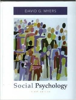 Social Psychology Text Only 9th Ninth Edition By D G Myers