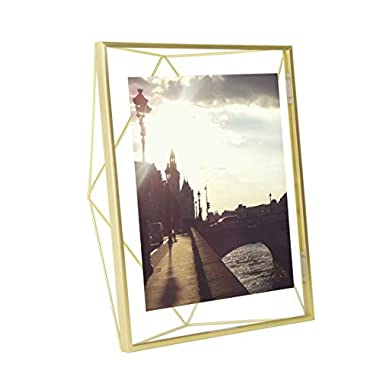 Umbra Prisma Picture Frame, 8 by 10-Inch, Matte Brass