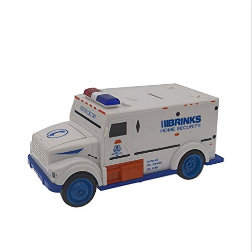 WEALTH Money Safe Armored Bank Truck Piggy Bank Security Vehicle Car Password Cash Management Provider Bill Coin Box for Boys Kids Over Time