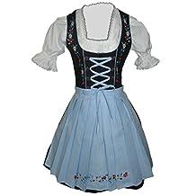 Dirndl World Womens Di06bls,3 Piece Mini Dirndl Dress, Blouse, Apron, Size 4