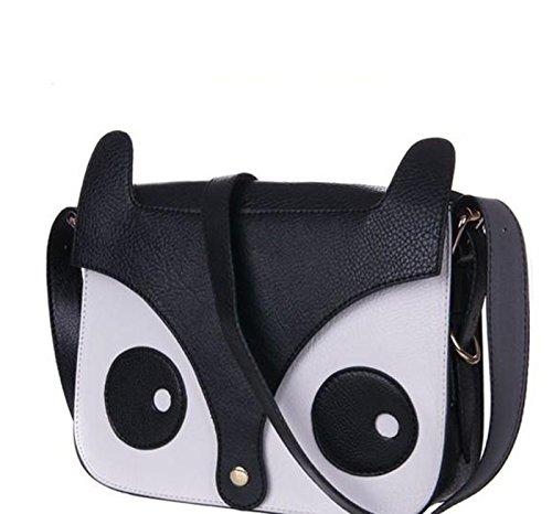 Sac 2015 sac Main À Noir Pour Rétro Forme Fox tout Femme Messenger De sac En D'épaule Chouette Fourre gvqgrYw