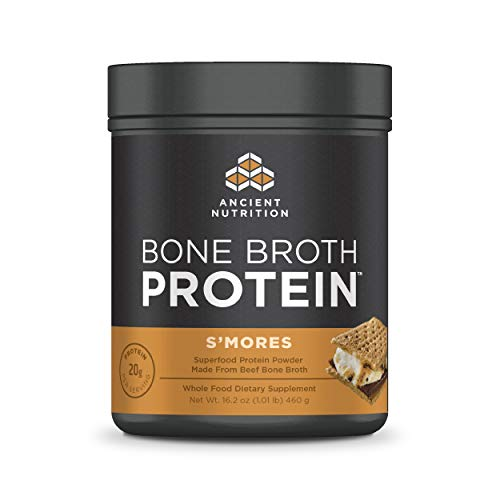 Ancient Nutrition Bone Broth Protein Powder, Seasonal S'Mores Flavor, 20 Servings