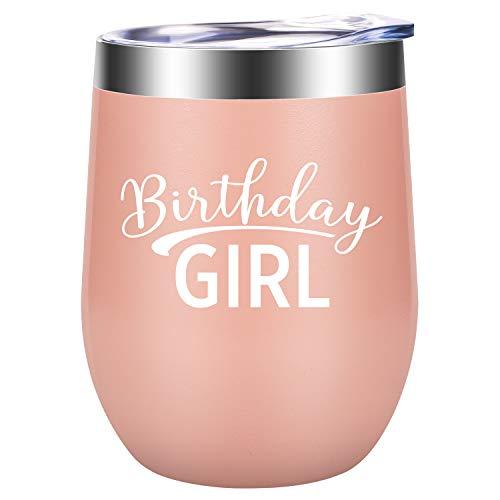 Birthday Girl - 21st, 25th, 30th, 35th, 40th, 50th, 60th, 70th Birthday Gifts for Women - Funny Bday Wine Gift Idea for Her, Best Friend, Mom, Gigi, Sister, Daughter - ()