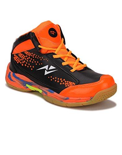 Yepme - Zapatillas de baloncesto de Material Sintético para hombre multicolor Naranja y negro