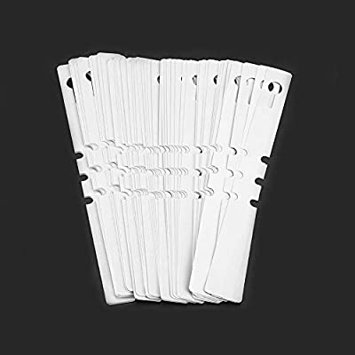 Hanging Flower Label Marker, Seed Name Marker, 100pcs Plastic Nursery Garden Decor Stake Tags Plant Labels Lawn Ornament(White): Garden & Outdoor