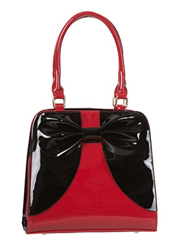 Dancing Days Lilia Vintage Large Ladies Handbag Red