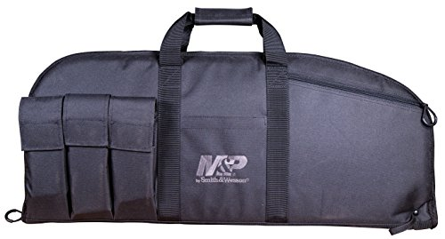 Smith & Wesson M&P Duty Series Padded Gun Case with Ballistic Fabric Construction and External Pockets for Shooting, Range, Storage and Transport (Smith & Wesson M&p Duty Series Gun Case)