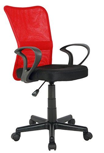 SixBros. Silla de Oficina Silla giratoria Rojo/Negro - H-298F-2/2121