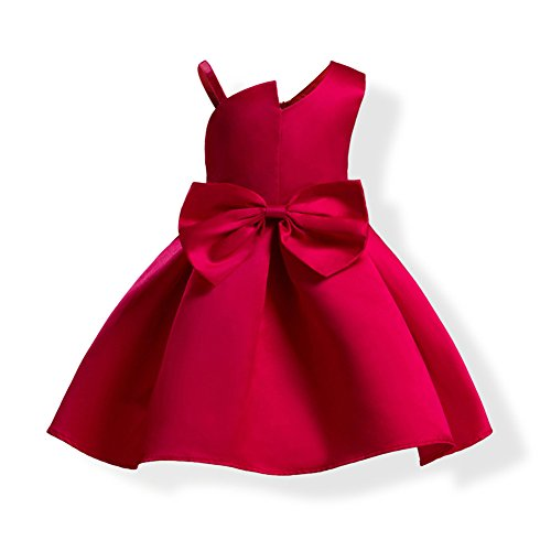 Lisianthus Toddler Girls Dress Ball Gown Party Wedding Princess Dress Fuchsia 4T ()