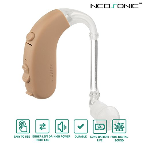 Neosonic Hearing Amplifier BTE to Aid and Assist Hearing, Loud High Power Digital Sound Amplifying Devices for Adults and Seniors