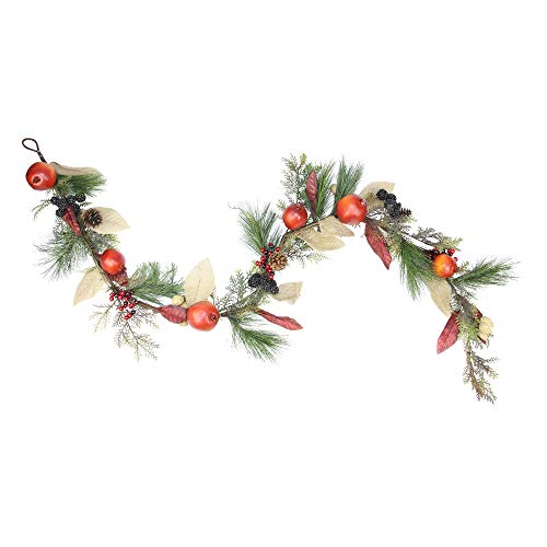 - Northlight Unlit Autumn Harvest Mixed Pine Berry and Nut Thanksgiving Fall Garland, 6' x 10