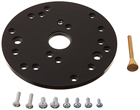 Big Horn 14104 Universal Router Plate with Replacement Screws and Plastic Insert Rings (Bosch Router Insert)