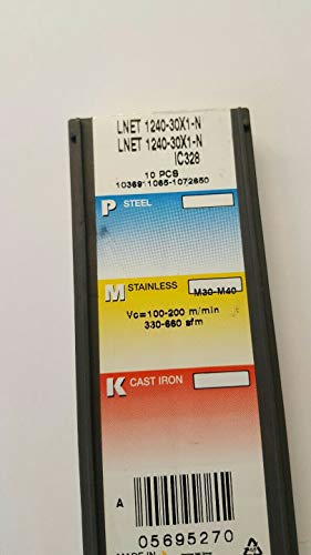 X10 ISCAR LNET 1240-30X1 – N Hartmetall-Fräseinsätze 1240-30X1-N IC328#I2