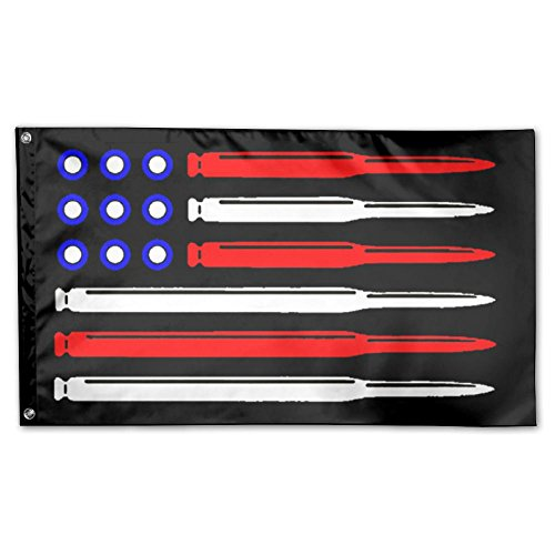 UDSNIS American Flag Bullet Garden Flag 3 X 5 Flag For Holiday Seasonal Decoration Banner Black ()