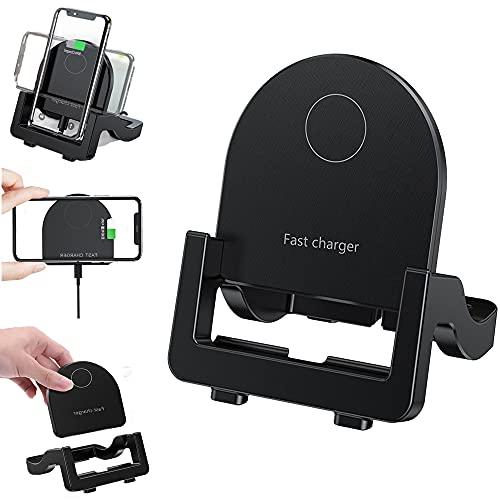 Kabellose Ladestation Handy, Fast Wireless Charger 15W Qi Ladestation 3 Arbeitsmodus Induktions Ladegerät Für Alle Qi-Zertifiziert Geräte Kompatibel mit Apple iPhone 13/12/11/XR/XS/8 Samsung AirPods