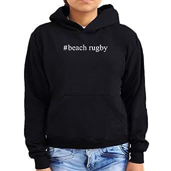 #Beach Rugby Hashtag Women Hoodie