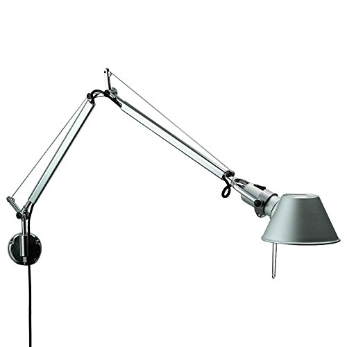 Artemide Tolomeo Mini Wall Lamp Aluminum Wall Bracket INCLUDED Design Michele De Lucchi Giancarlo Fassina Italy 1987 Wall Arm Anodized Aluminum Steel