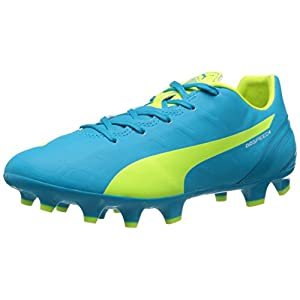 PUMA Women's Evospeed 4.4 FG Soccer Cleat, Atomic Blue/Safety Grey, 7 B US