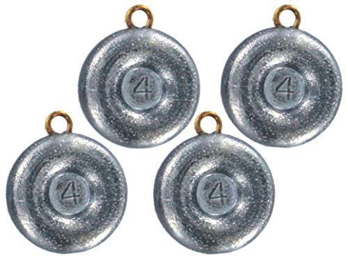 Bullet Weights Disc Fishing Sinker (4-Pack), 4-Ounce