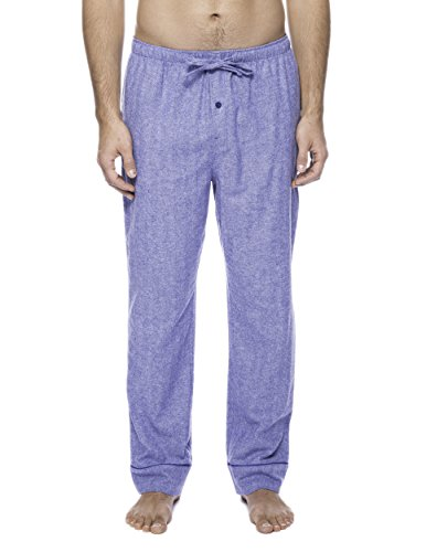 Men's Premium Flannel Lounge Pants - Herringbone Blue - X-Large