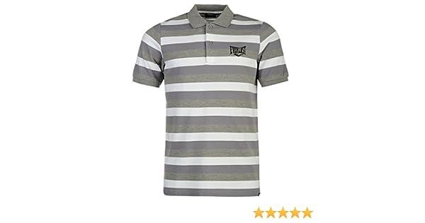 Everlast Hombre A Rayas Polo Camisa Camiseta Ropa Mangas Cortas ...