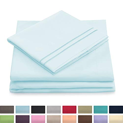 Twin XL Size Bed Sheets – Baby Blue Twin Extra Long Bedding Set – Deep Pocket – Ultra Soft Luxury Hotel Sheets- Hypoallergenic – Cool & Breathable – Wrinkle, Stain, Fade Resistant – 3 Piece
