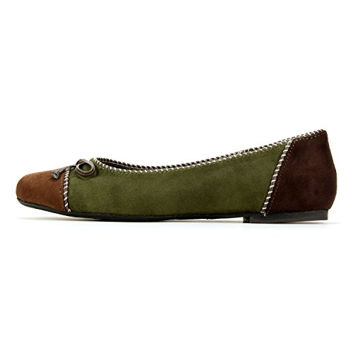 Rialto Sailor Womens Flat Forest Green 8kyi0l0K