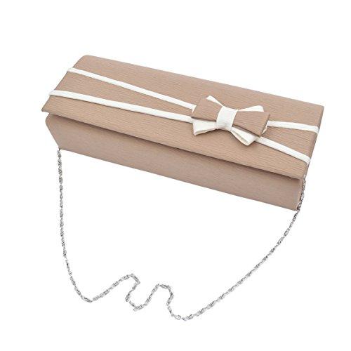 Matte Colors Clutch Bow Tone Premium Avail Diff 2 Flap Bag Front Khaki Evening AvqZvgdw