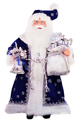 "16"" Inch Standing Royal Blue Santa Claus Christmas Figurine Figure Decoration 41611"