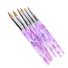 6 Different Size Acrylic Nail Art Brush(NO.2,4,6,8,10,12)