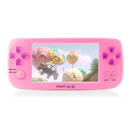 Handheld Game Console, PAP-KIII Retro Game Console 650 Classic Games 4.3 Inch TFT Screen Portable Game Console, Support GBA/SEGA/SFC/NEOGEO/NES -Pink by Anbernic