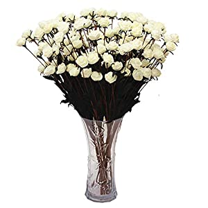 Homcomoda Artificial Flowers, Real Touch Fake Rose 10PC for DIY Wedding Party Home Décor 1