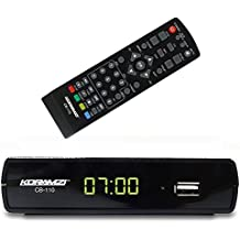 Koramzi CB-110 Digital TV Converter Full HD ,USB, Time Shift Function, Dolby, USB Recording with Remote Control (Black)