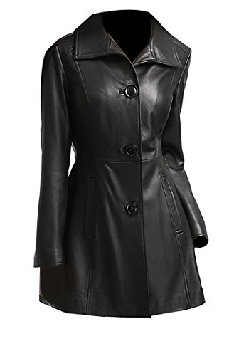 3 Button Womens Leather Jackets - 3
