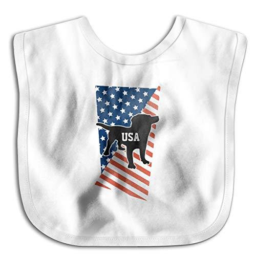 XHX Baby's USA Flag Dog Saliva Towel