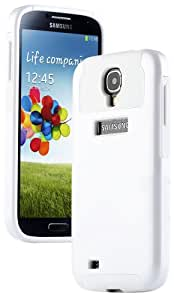 """myLife (TM) White - Classy Design (2 Piece Hybrid Bumper) Hard and Soft Case for the Samsung Galaxy S4 """"Fits Models: I9500, I9505, SPH-L720, Galaxy S IV, SGH-I337, SCH-I545, SGH-M919, SCH-R970 and Galaxy S4 LTE-A Touch Phone"""" (Fitted Back Solid Cover Case + Internal Silicone Gel Rubberized Tough Armor Skin)"""