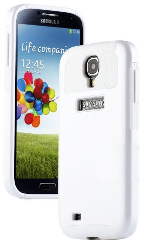 "myLife (TM) White - Classy Design (2 Piece Hybrid Bumper) Hard and Soft Case for the Samsung Galaxy S4 ""Fits Models: I9500, I9505, SPH-L720, Galaxy S IV, SGH-I337, SCH-I545, SGH-M919, SCH-R970 and Galaxy S4 LTE-A Touch Phone"" (Fitted Back Solid Cover Case + Internal Silicone Gel Rubberized Tough Armor Skin)"