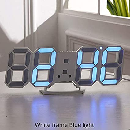 Amazon.com: Wall Clock 3D LED Modern Design Digital Table Clock ...