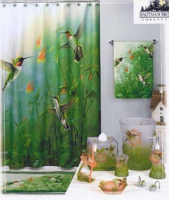 Delightful Amazon.com: Summer Jewels HUMMINGBIRD Bathroom SHOWER CURTAIN HOOKS:  Kitchen U0026 Dining