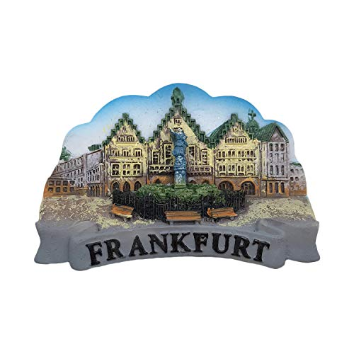 3D Frankfurt Germany Refrigerator Magnet Tourist Souvenirs Resin Magnetic Stickers Fridge Magnet Home & Kitchen Decoration from China