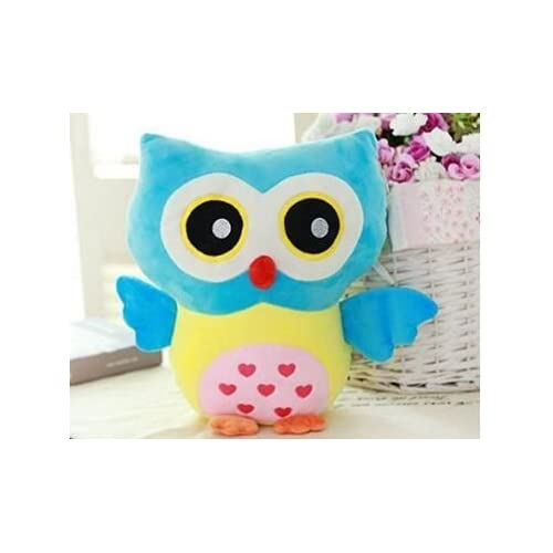 Stuffed Toy Plush Doll Lovely Owl Shaped Perfect Decorative Pillow by Rainbow Fox